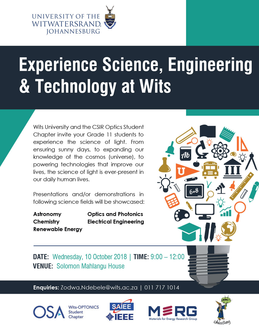 Experience science at Wits