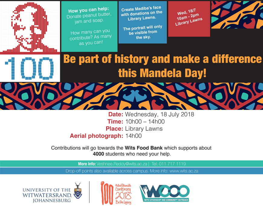 2018 Mandela Day at Wits University
