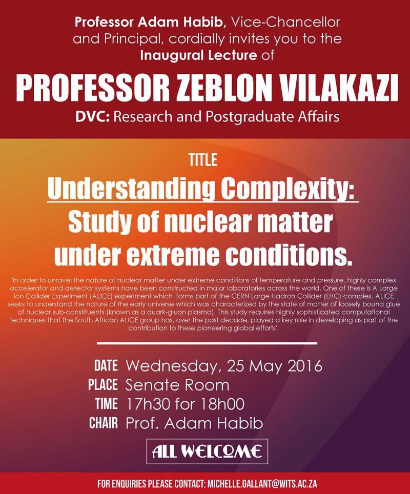 2016 wits university inaugural lecture professor zeblon vilakazi stopboris Images