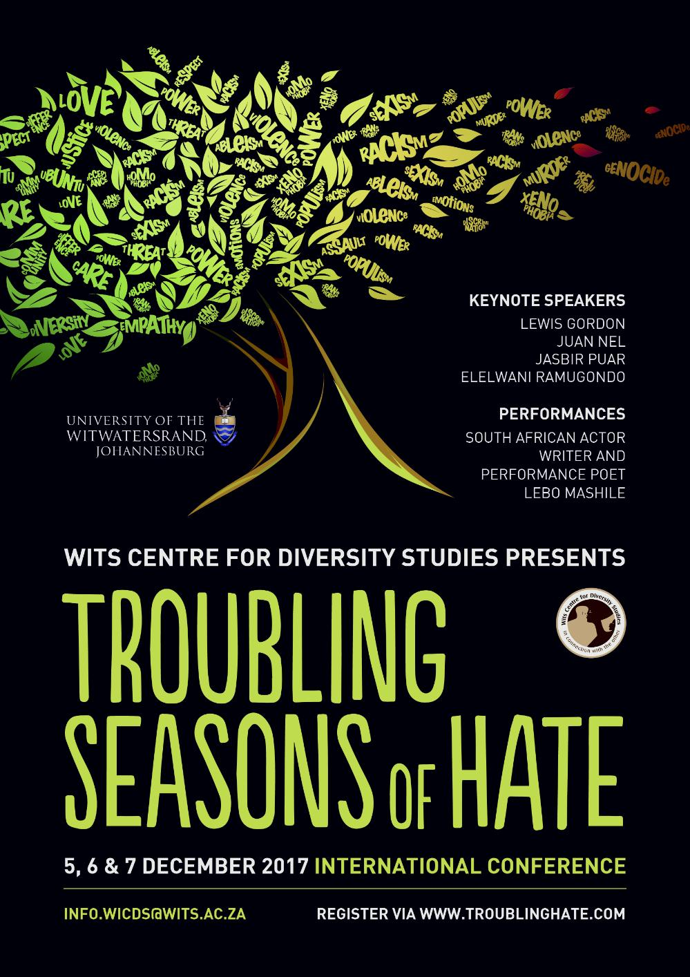 Troubling Seasons of Hate