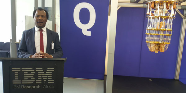 Professor Zeblon Vilakazi, DVC: Research & Postgraduate Affairs, and Chair of the Department of Science and Innovation's (DSI) National Working Committee to develop a Framework for Quantum Computing and Quantum Technology (NWG: QC&QT)