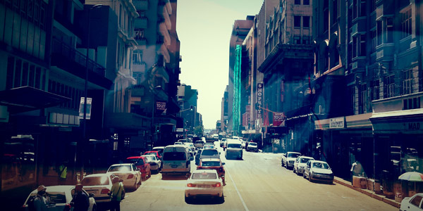 The streets of Johannesburg