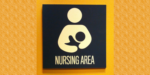Sign indicating a nursing area for babies