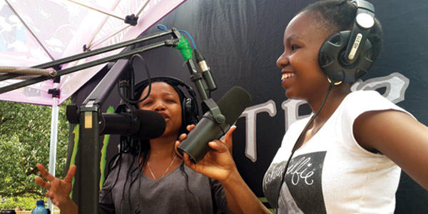 Voice of Wits DJs broadcasting on campus