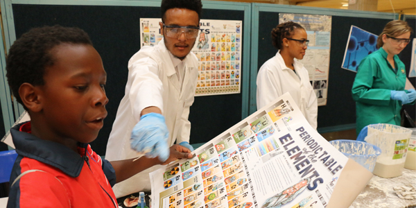 School learners interact with scientists during National Science Week