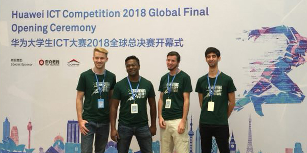 Wits winners at the Huawei ICT Skills competition in China.