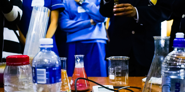 Hydrogeology experiment at Wits with Grade 11 learners