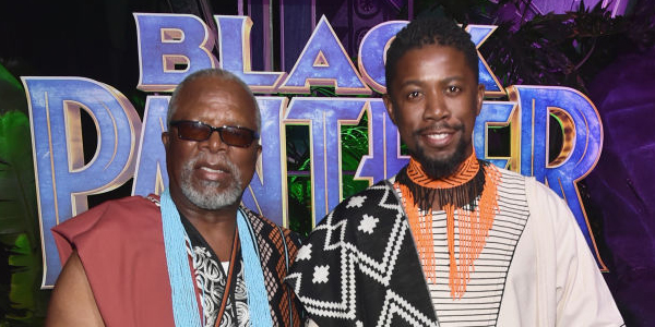 John Kani and son, Atandwa, star in Black Panther.
