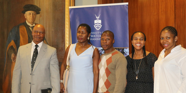 Motukuane Mokoena (CEO of BPSA Education Foundation)  Rhulani Baloyi (Trustee of BPSA Education Foundation), Nelson  Sithole (BPSA Education scholarship recipient), Akhona Ntsele and Andiswa Machanyana both from BPSA Education Foundation