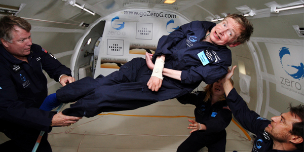 Stephen Hawking in Zero Gravity. © NASA
