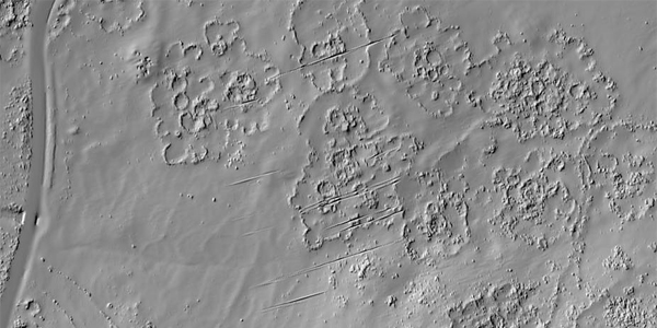 "LiDAR, was used to ""redraw"" the remains of the city, along the lower western slopes of the Suikerbosrand hills near Johannesburg. ©  Karim Sadr"