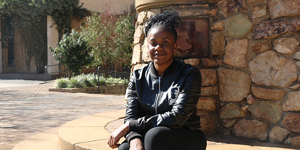 Talent Marange, a second year student is grateful for the support from the Wits Food Bank