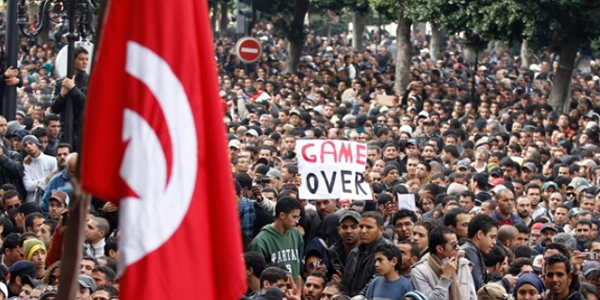 Uprising in Tunisia.