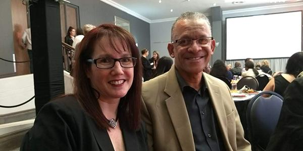 Dr Paula Barnard Ashton, Wits eZone manager, and Prof. Andrew Crouch Wits DVCAcademic at Learning Idols 2018.