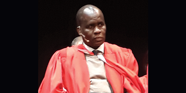 Surgeon Dr Thifheli Luvhengo delivered the keynote address at the Faculty of Health Sciences graduation ceremony on 4 July 2018