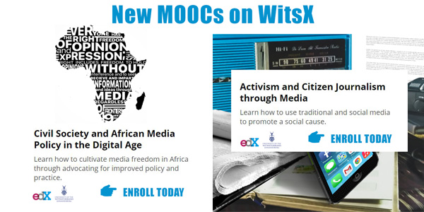 New MOOCs on WitsX