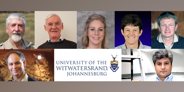 NSTF South32 Awards finalists from Wits excl.Thomas Stacey and 3 winners. Clockwise L_R.Norman Owen-Smith, John Bradley, Daniela Bezuidenhout, Andrea Fuller, Charles De Koning, Bruce Rubidge, Wits Communication Services, Bruce Mellado