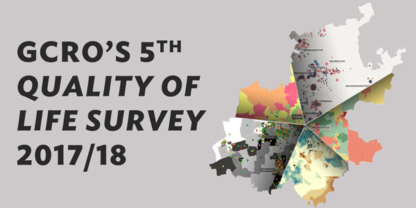 The Gauteng City-Region Observatory's 5th Quality of Life Survey (2017/2018)