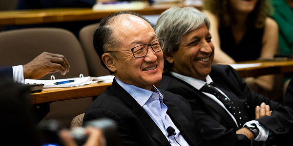 World Bank Group President Jim Kim with Wits Vice-Chancellor and Principal Professor Adam Habib