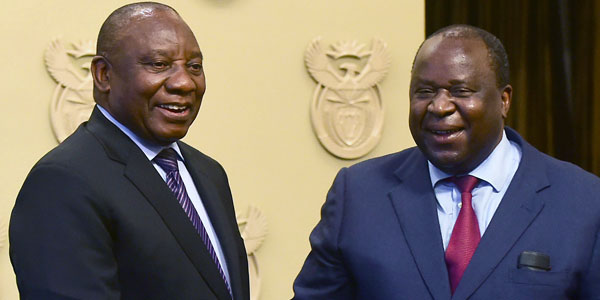 President Cyril Ramaphosa with Finance Minister Tito Mboweni © GovernmentZA | Flicr