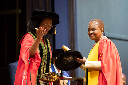 Baroness Valerie Amos Receives an honorary Doctorate from Wits University.