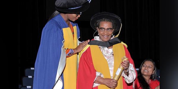 Dr Brigalia Bam awarded an honorary Doctor of Literature (DLitt) degree by Wits on 27 March 2019