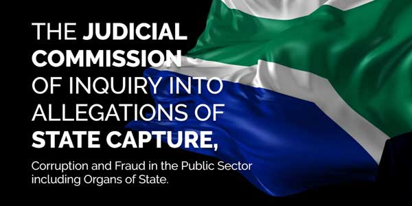State capture and corruption; Zuma and the Zondo Commission.