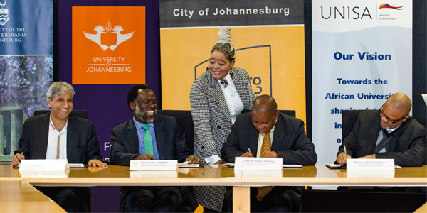 The Vice-Chancellors of the top three universities and the Mayor of the City of Johannesburg commit to powering the economic hub of South Africa