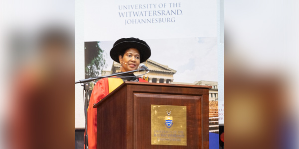 Executive Director of UN Women Dr Phumzile Mlambo-Ngcuka awarded a Wits honorary doctorate in literature for her commitment to women, education, social justice and servant leadership.