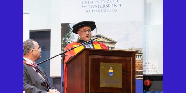 Stavros Nicolaou received an honorary DSc Med from Wits and delivered the keynote address at the Faculty of Health Sciences December graduation