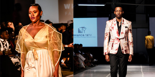 Witsies on the runway during the Namibian Fashion Week in November (Africa by Bus program)