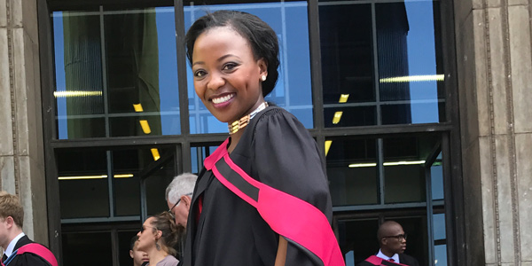 Hlengiwe Mnisi, masters student in electrical engineering