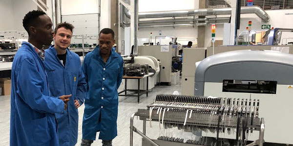 Wits Institute for Collider Particle Physics (ICPP) team visits Jemstech