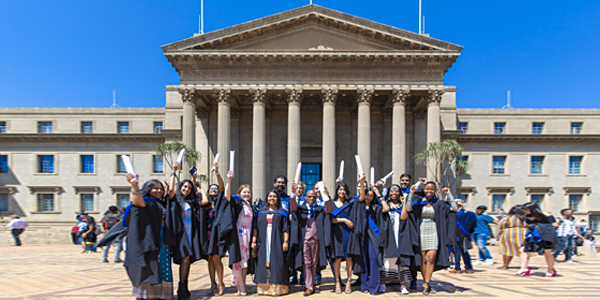 Students celebrate the fruits of hard work