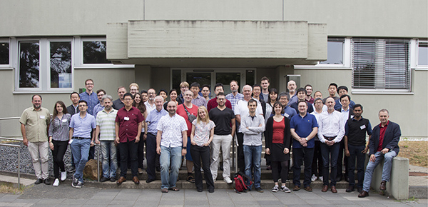 Group picture of the workshop which triggered the imaging the magnetic fields at the Max-Planck-Institut für Radioastronomie in Bonn, Germany, on July 15-19, 2019.  Credit: © E. Traianou/MPIfR