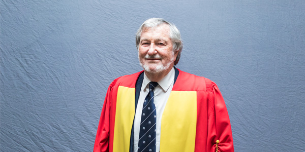 Professor Eddie Webster about to receive an Honorary Doctorate from Wits University