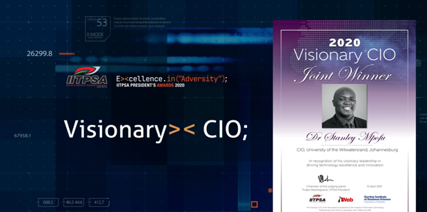 Industry recognition for Dr Stanley Mpofu, Chief Information Officer, the joint winner of the Visionary CIO 2020 award