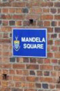 Mandela square plaque