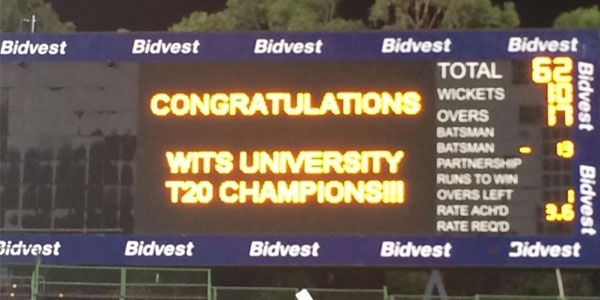Wits Cricket T20 Champions