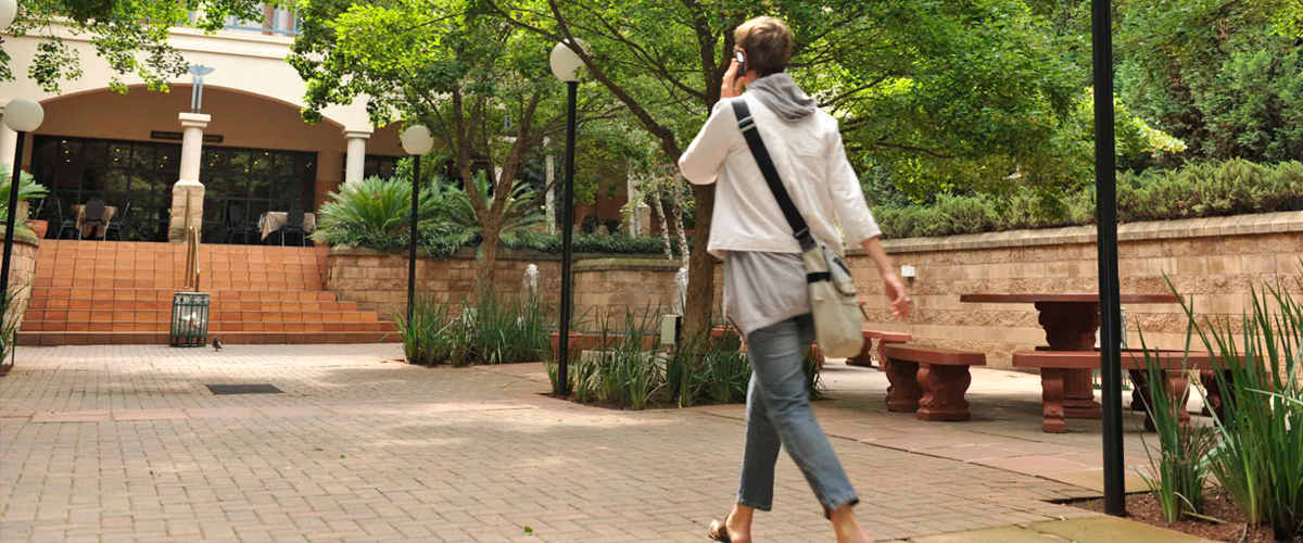 Student on Wits campus